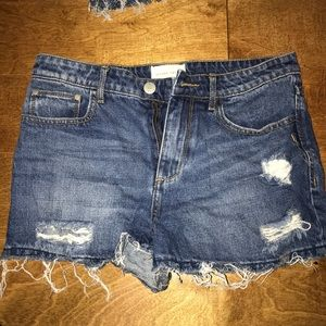 Gilded Intent jean shorts